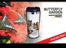 Stainless Steel Tumbler (400ml) - Butterfly Garden