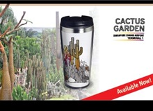 Stainless Steel Tumbler (400ml) - Cactus Garden
