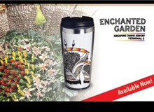 Stainless Steel Tumbler (400ml) - Enchanted Garden