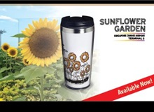 Stainless Steel Tumbler (400ml) - Sunflower Garden