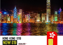 HONG KONG & MACAU 8days 4G PCCW 3IN1 TOURIST SIM (Online)