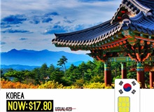 South Korea 10day Unlimited Data Sim Card
