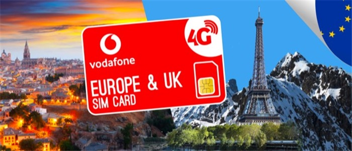 UK + EUROPE 10GB VODAFONE SIM CARD - Changi Recommends