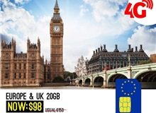 UK + EUROPE 20GB VODAFONE SIM CARD