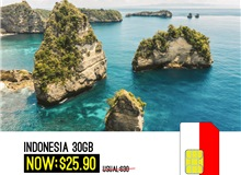 Indonesia Sim Card 30GB