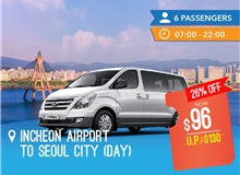 Day - Incheon International Airport To Seoul City (12seater)
