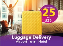 $25 (1 Piece) Changi Luggage Delivery