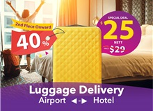$55 (3 Pieces) Changi Luggage Delivery