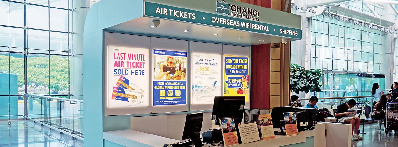 Changi Recommends Booth at Changi Airport Terminal 2 Departure Hall