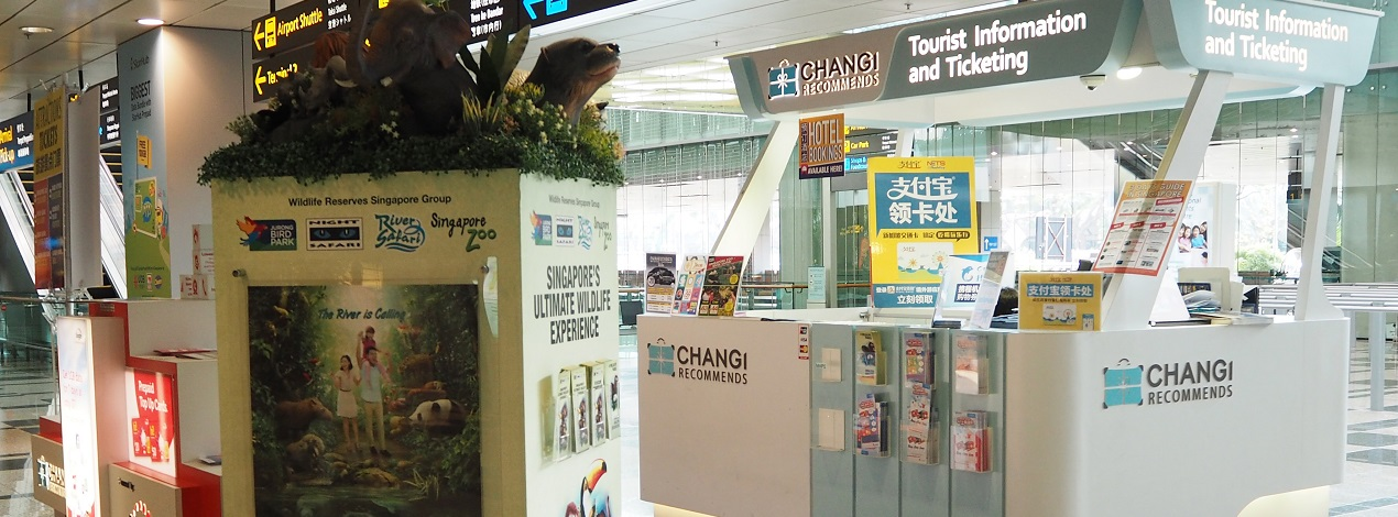 Changi Recommends Booth at Changi Airport Terminal 3 Arrival Hall