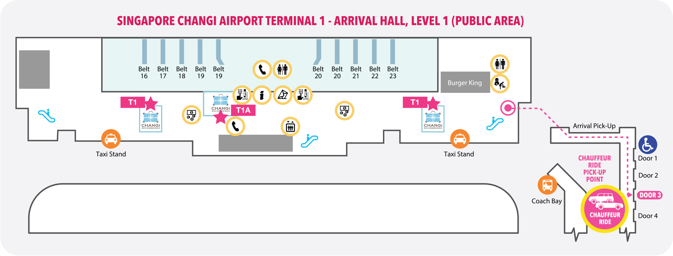 Terminal 1 Pickup Location