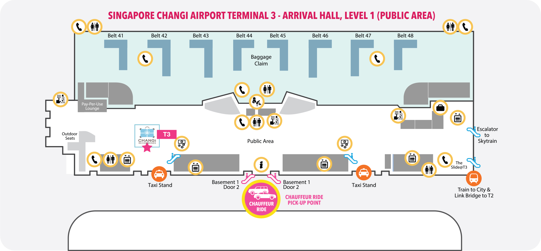 Terminal 3 Pickup Location