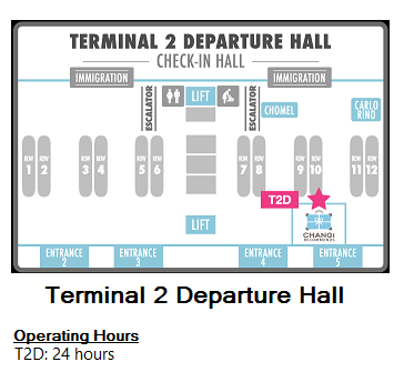 Changi Recommends Booth at Terminal 2 Departure Hall