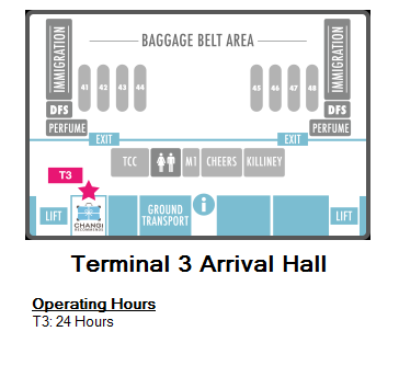 Changi Recommends Booth at Terminal 3 Arrival Hall