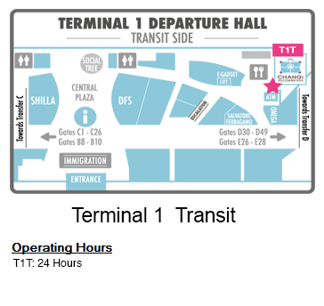 Changi Recommends Booth at Terminal 1 Transit Area