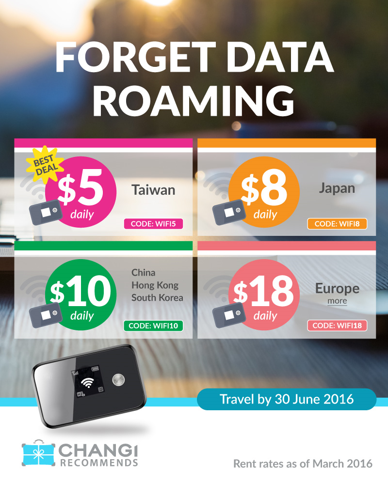 Overseas Wifi Router Rental Promotion starting from $5 a day