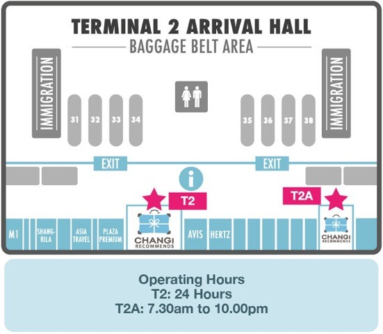 Changi Recommends Booth at Terminal 2 Arrival Hall
